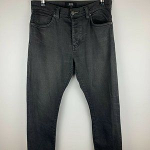 Neuw Mens Black Casual Tapered Jeans Size 30 A3